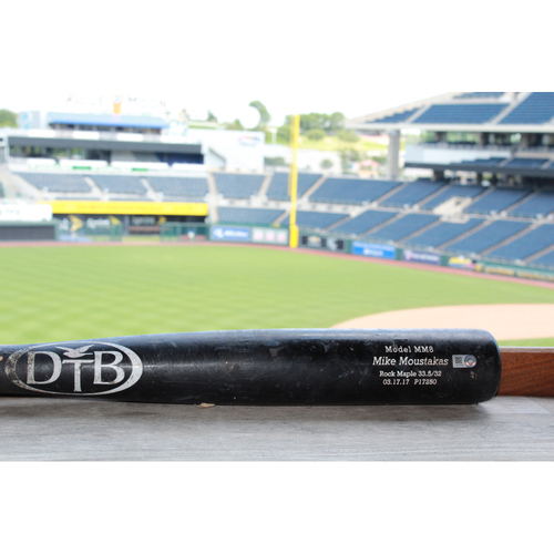 Photo of Game-Used Eric Hosmer Broken Bat (Bat issued to Mike Moustakas) (6/6/17 HOU @ KC)