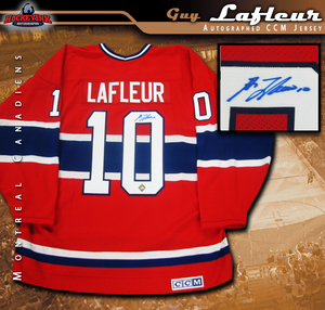 GUY LAFLEUR Signed Montreal Canadiens Red CCM Jersey