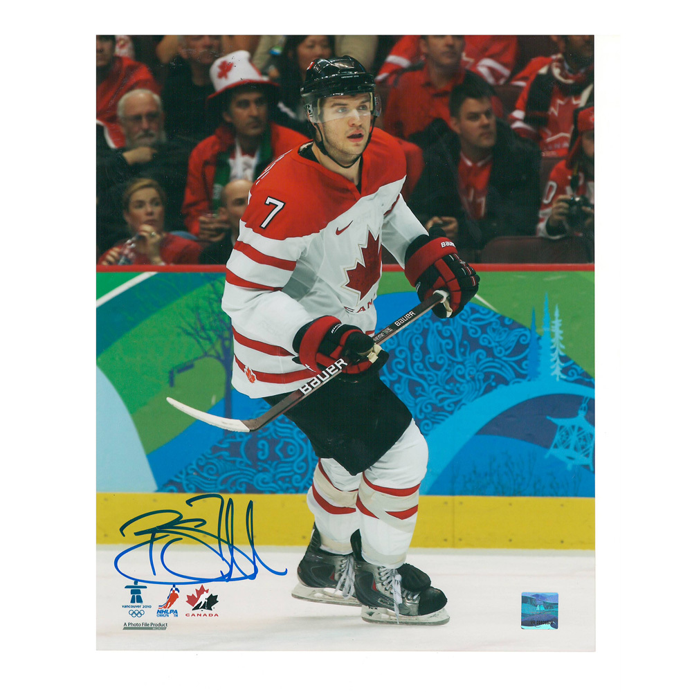 BRENT SEABROOK Signed Team Canada 8 X 10 Photo - 70386 A