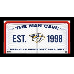 Nashville Predators Man Cave Sign 10x20 Framed Photo
