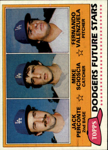 Photo of 1981 Topps #302 Jack Perconte RC/Mike Scioscia RC/Fernando Valenzuela RC