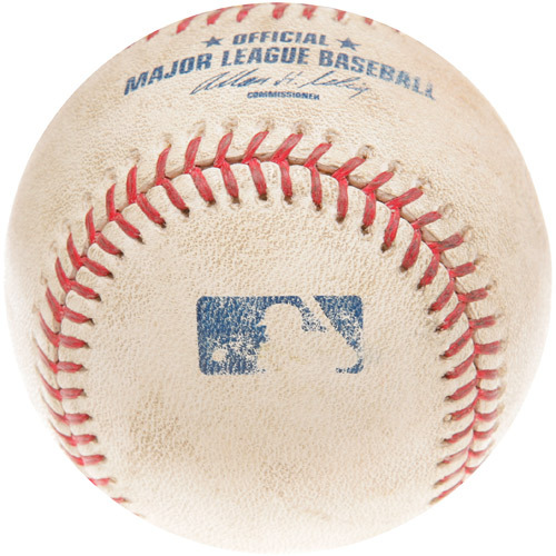 Photo of Game-Used Baseball from Max Scherzer's Debut Game, Pitch thrown by Scherzer