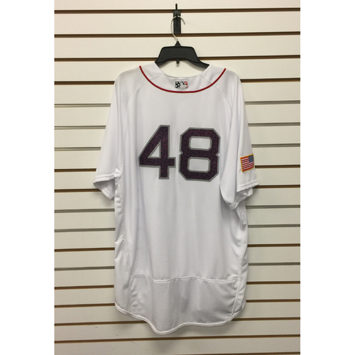 Photo of Pablo Sandoval Team-Issued 4th of July Home Jersey