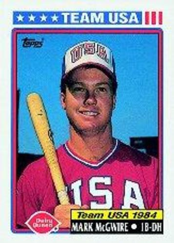 Photo of 1992 Topps Dairy Queen Team USA #1 Mark McGwire