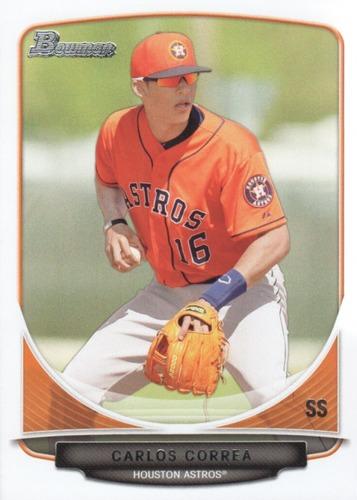 Photo of 2013 Bowman Draft Top Prospects #TP10 Carlos Correa -- Astros post-season