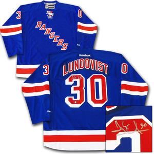 Henrik Lundqvist Autographed New York Rangers Jersey