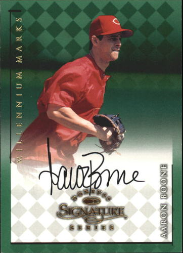 Photo of 1998 Donruss Signature Autographs Millennium #13 Aaron Boone