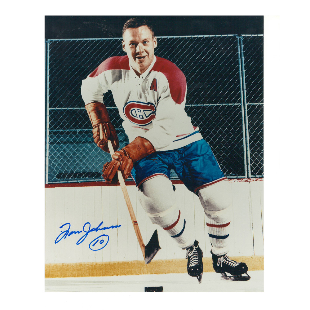 TOM JOHNSON Signed Vintage Montreal Canadiens 8 X 10 Photo - 70106