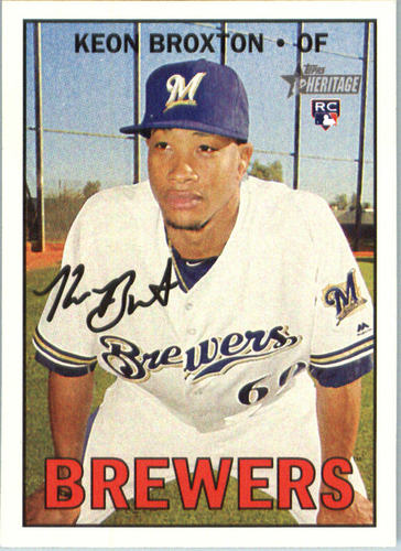 Photo of 2016 Topps Heritage #522 Keon Broxton RC
