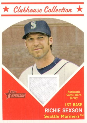 Photo of 2008 Topps Heritage Clubhouse Collection Relics #RS Richie Sexson D