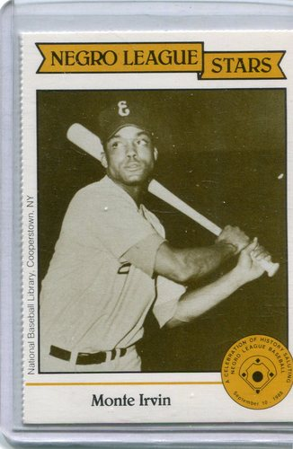 Photo of 1988 Negro League Duquesne Light Co. #20 Monte Irvin