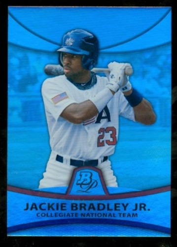 Photo of 2010 Bowman Platinum Prospects Refractor Thick Stock 135/999 Jackie Bradley Jr. -- Red Sox post-seas
