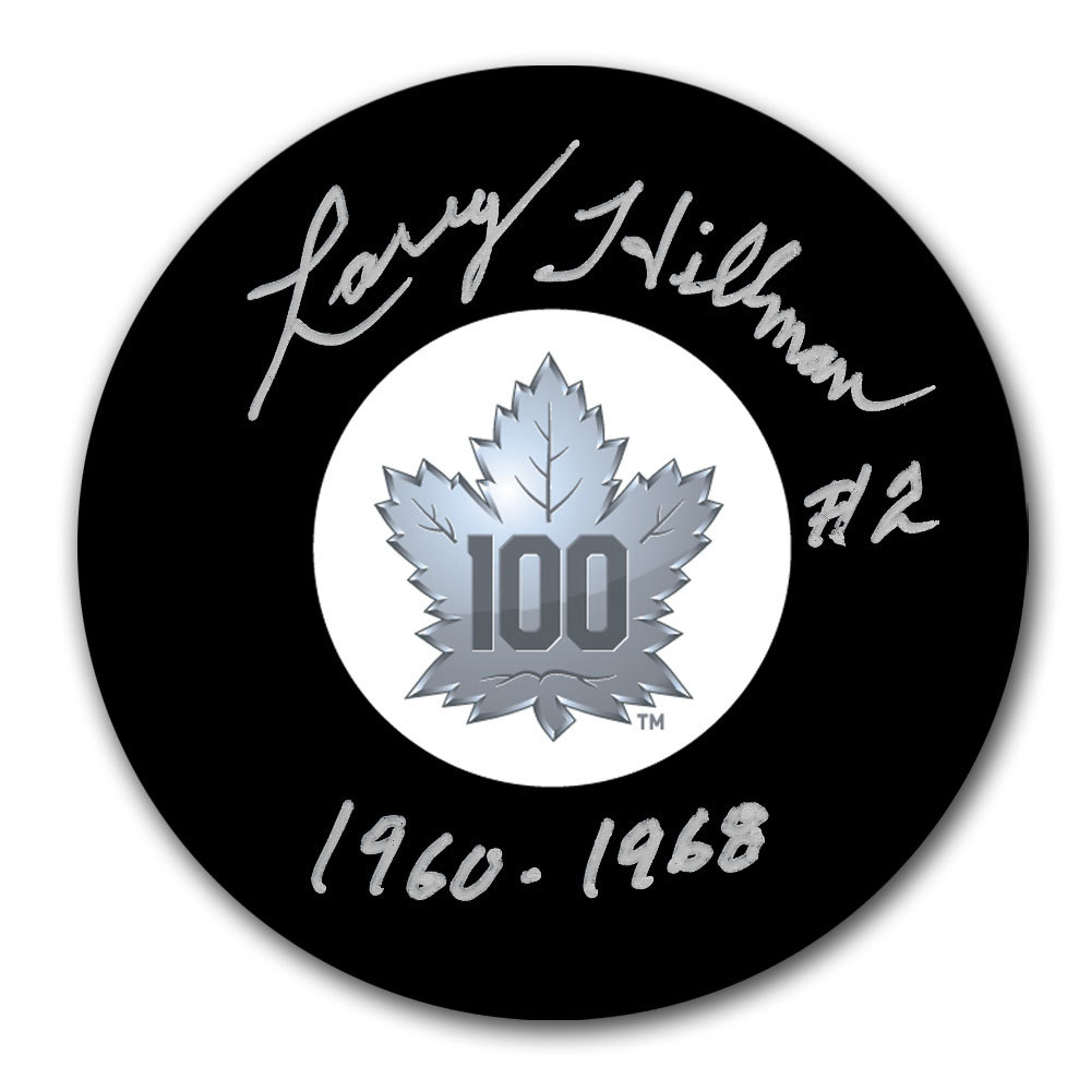 Larry Hillman Toronto Maple Leafs 100th Anniversary Autographed Puck