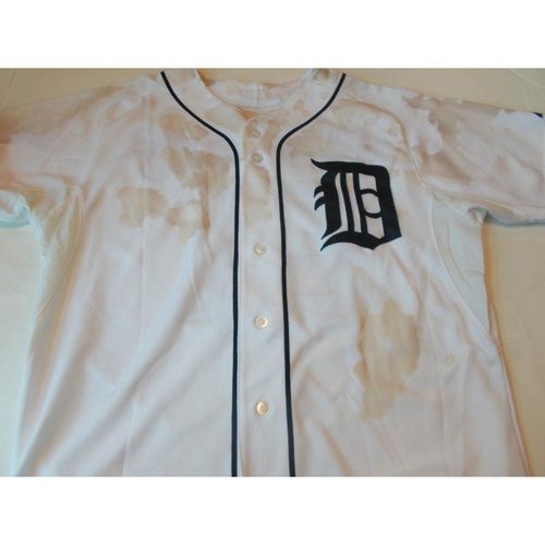 Photo of Game-Used Tom Brookens 2012 ALCS Jersey: Game 3 and 4