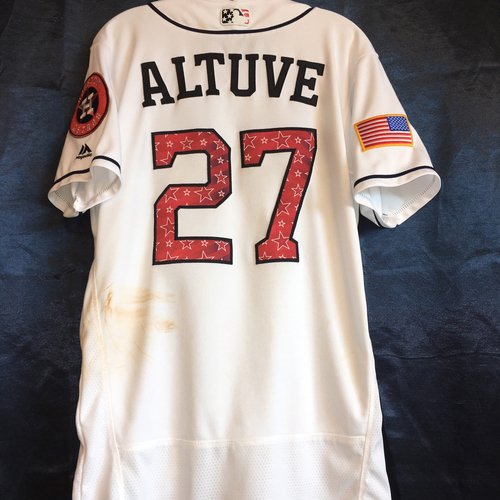 Photo of Jose Altuve 4th of July Weekend Game-Used Jersey
