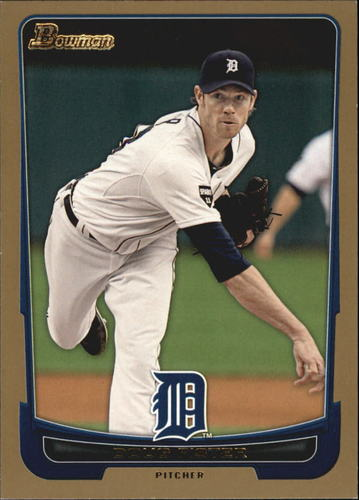 Photo of 2012 Bowman Gold #128 Doug Fister -- Red Sox post-season