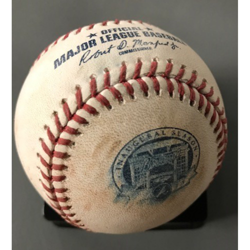 Photo of Cody Bellinger Game-Used Hit Single Baseball - August 2, 2017