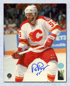 Rob Ramage Calgary Flames Autographed Cup Finals 8x10 Photo