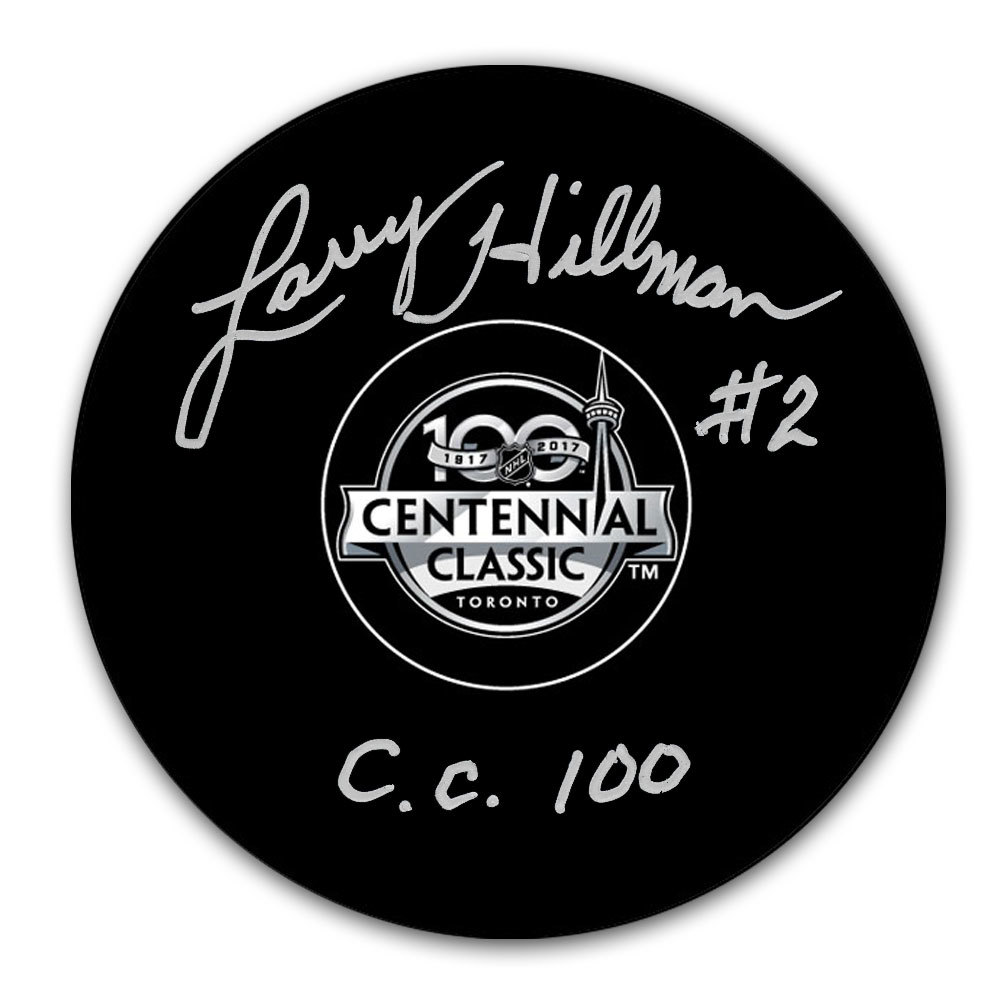 Larry Hillman 2017 Centennial Classic Autographed Puck Toronto Maple Leafs