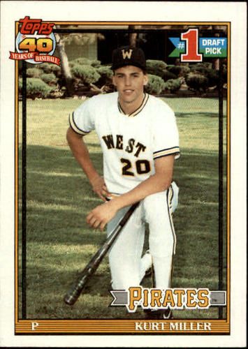 Photo of 1991 Topps #491 Kurt Miller RC
