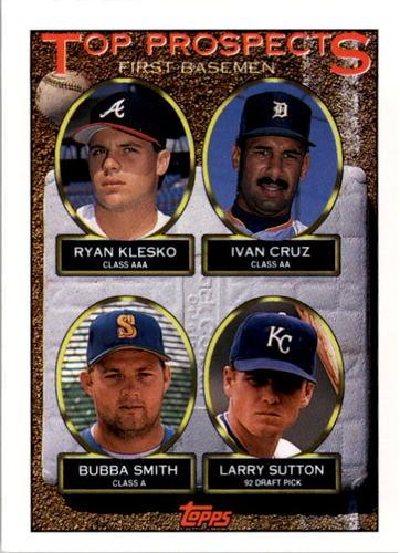Photo of 1993 Topps #423 Ryan Klesko/Ivan Cruz/Bubba Smith/Larry Sutton RC