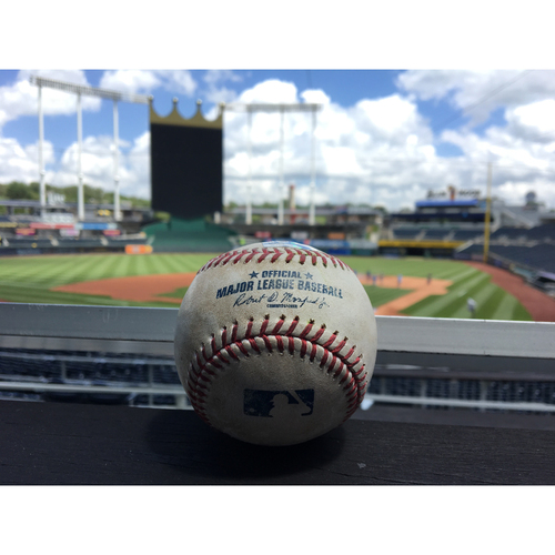 Photo of Game-Used Ball: Gary Sanchez Single - May 16, 2017 (Top of 1)