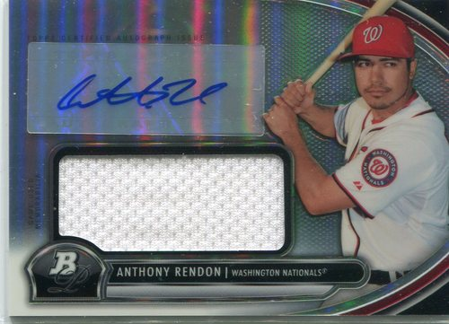 Photo of 2013 Bowman Platinum Jumbo Relic Autographs Refractor Anthony Rendon -- Nationals post-season