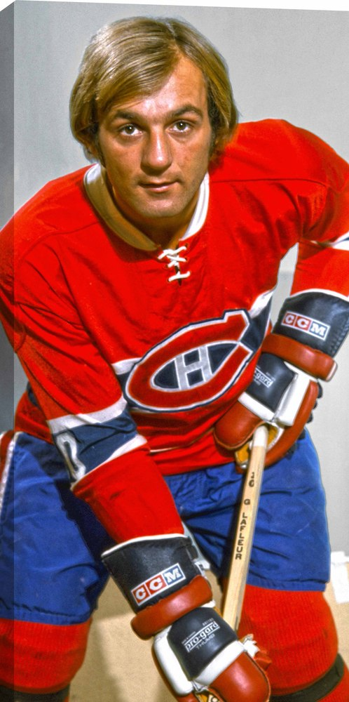 Guy Lafleur - 14x28 Hockey Hall Of Fame Canvas - Montreal Canadiens