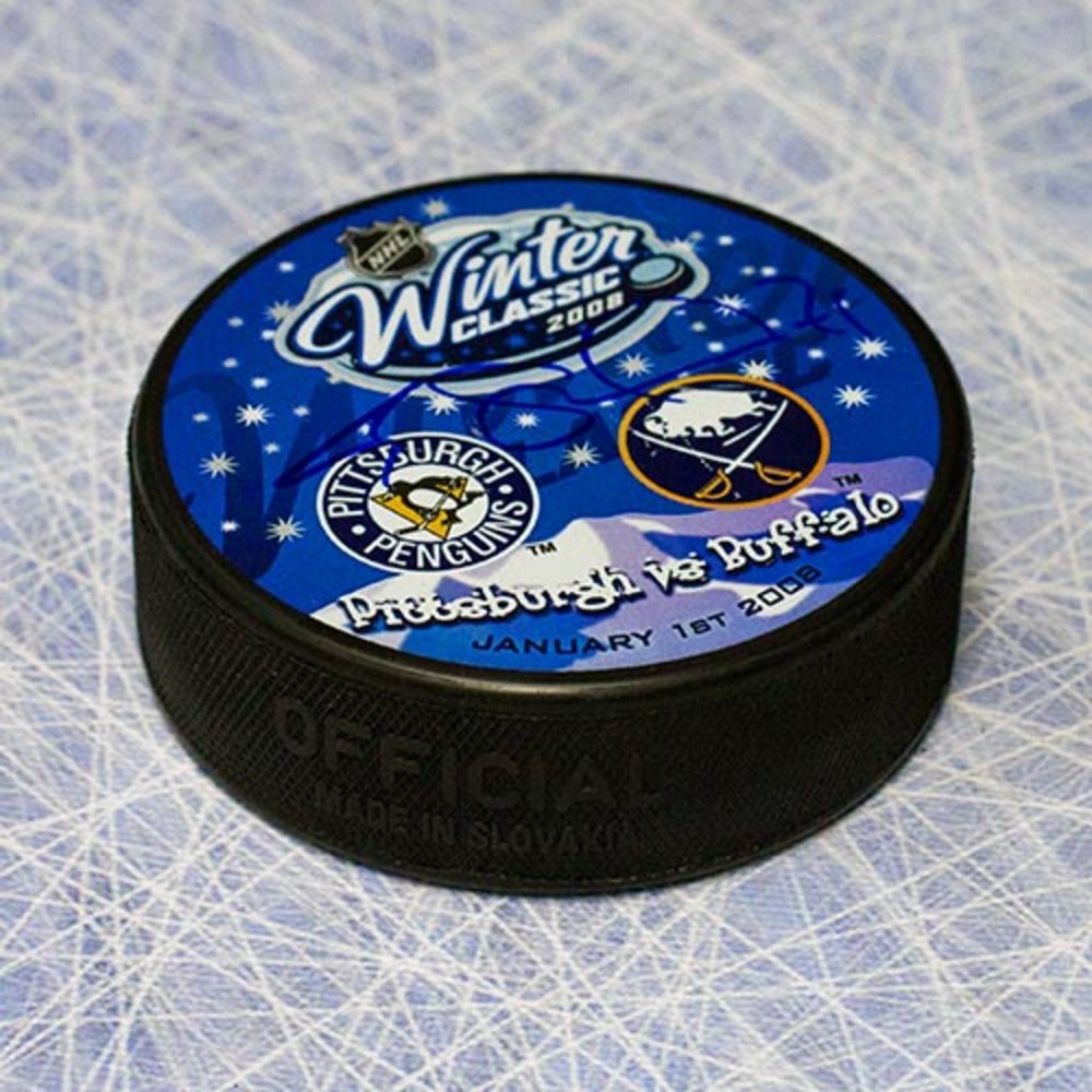 Evgeni Malkin Pittsburgh Penguins Autographed 2008 Winter Classic Puck