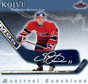 SAKU KOIVU of the Anaheim Ducks Signed Montreal Model Stick