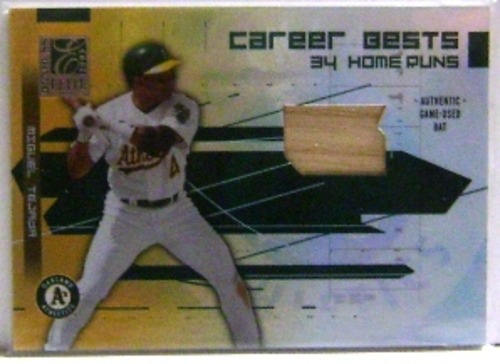 Photo of 2003 Donruss Elite Career Bests Materials #20 Miguel Tejada HR Bat