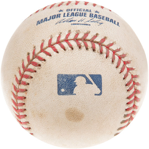 Photo of Game-Used Baseball from Trevor Hoffman's 520th Career Save Game