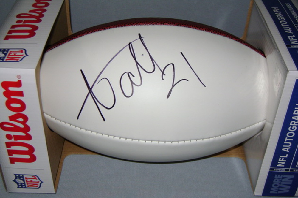 NFL - BRONCOS AQIB TALIB SIGNED PANEL BALL