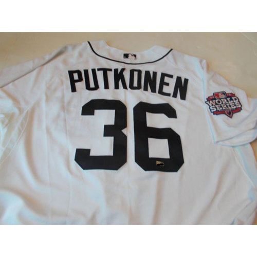 Photo of Luke Putkonen Home Jersey with World Series Patch