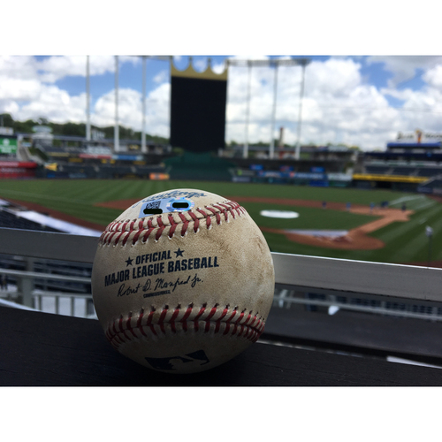 Photo of Game-Used Ball: Aaron Judge Single - May 16, 2017 (Top of 7)