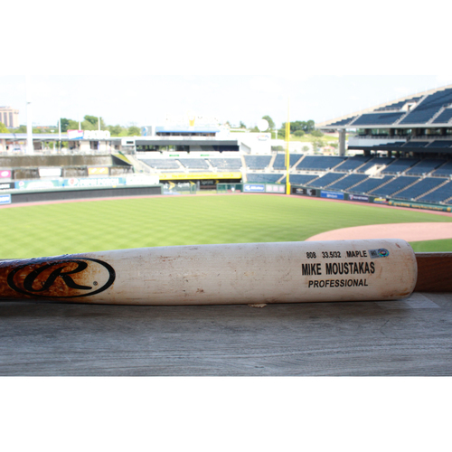 Photo of Game-Used Mike Moustakas Broken Bat (5/17/17 NYY @ KC)