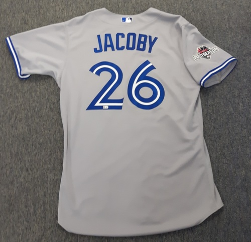 Photo of Authenticated Team Issued 2015 Postseason Jersey - #26 Brook Jacoby. Size 46.