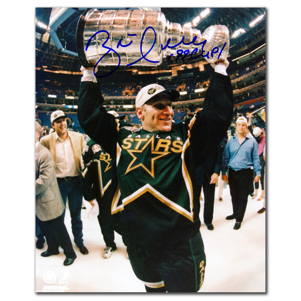 Brett Hull Dallas Stars 1999 CUP Autographed 8x10