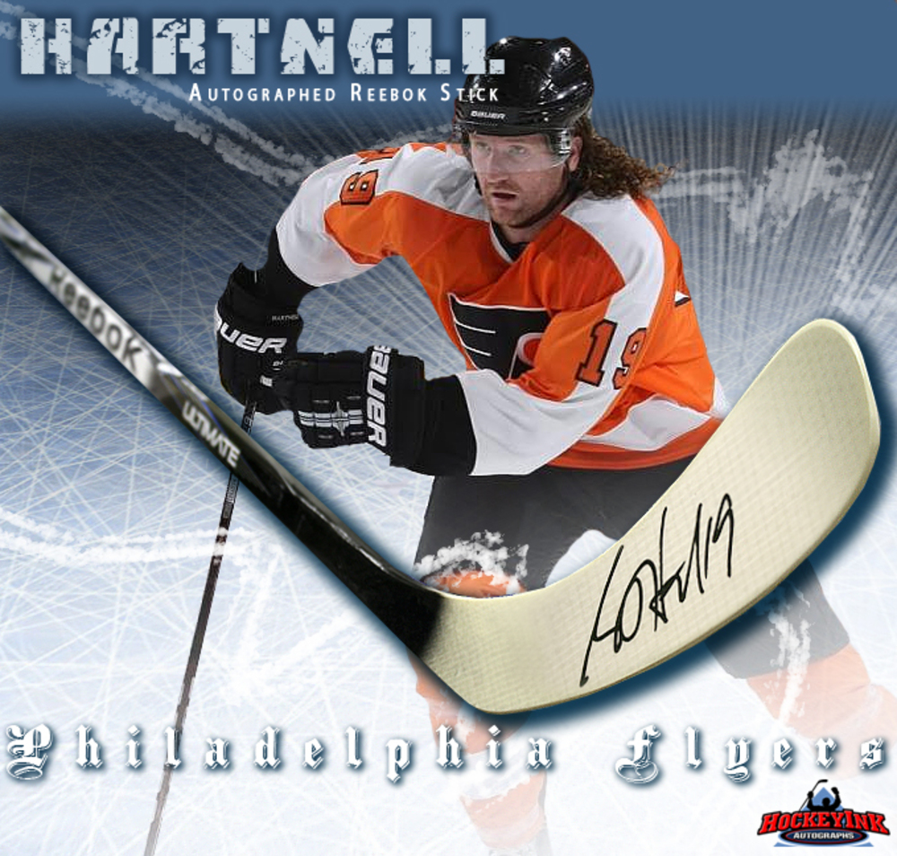 SCOTT HARTNELL Signed Reebok 2K Model Stick - Philadelphia Flyers