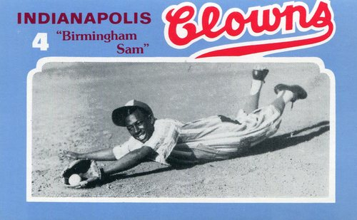 Photo of 1976 Laughlin Indianapolis Clowns #4 Sam Brison/Nickname Birmingham