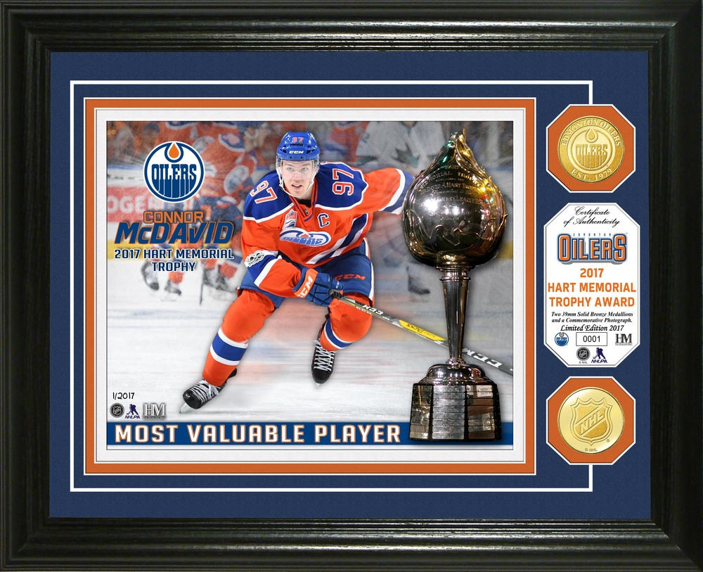 Serial #1! Connor McDavid 2017 Hart Memorial Trophy Bronze Coin Photo Mint