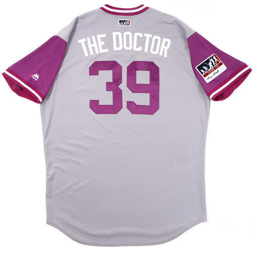 "Photo of Stu ""The Doctor"" Cole Colorado Rockies Game-Used Players Weekend Jersey"