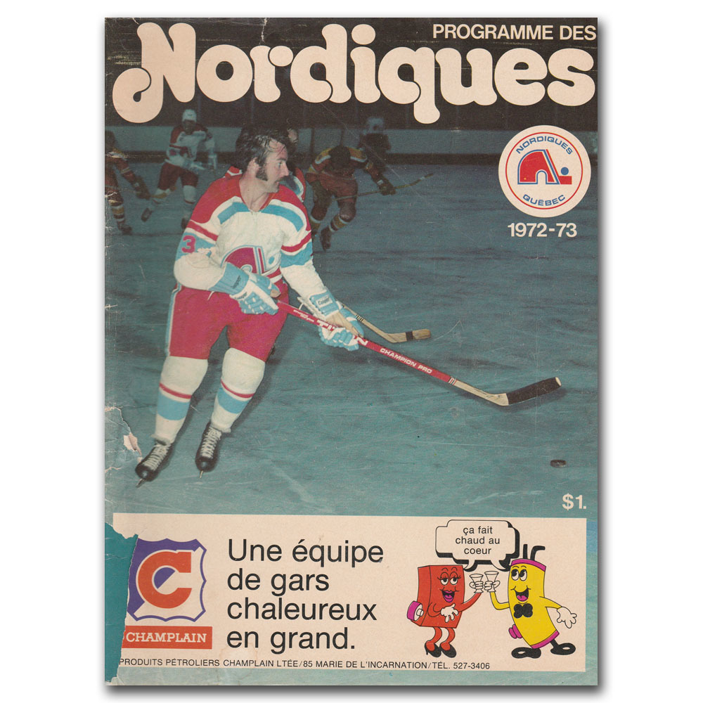 Quebec Nordiques (WHA) Program - 1972-73