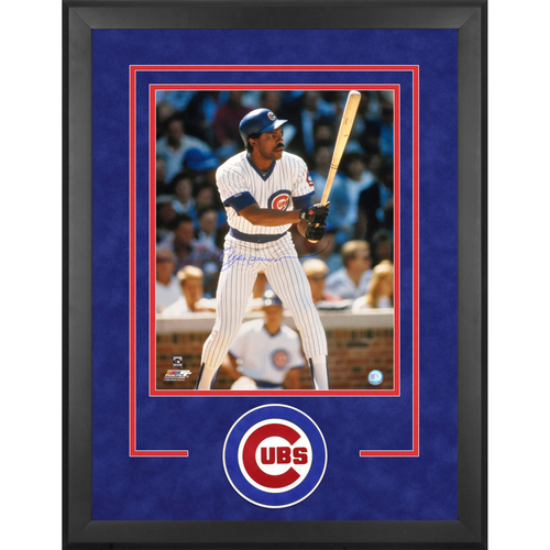 "Photo of Andre Dawson Chicago Cubs Framed Autographed 16"" x 20"" Action Photograph"