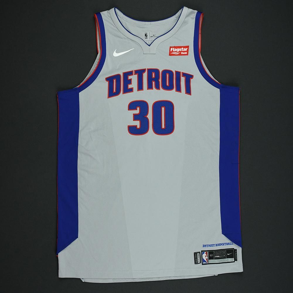 Jon Leuer - Detroit Pistons - Statement Game-Issued Jersey  - 2017-18 Season
