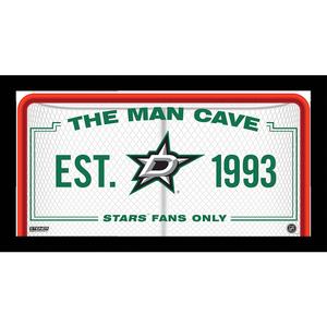 Dallas Stars Man Cave Sign 10x20 Framed Photo