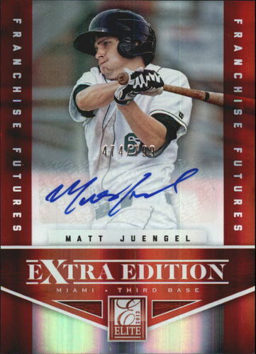 Photo of 2012 Elite Extra Edition Franchise Futures Signatures #85 Matt Juengel AU/799