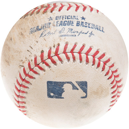 Photo of Game-Used Baseball from Yasmany Tomas' Major League Debut Game