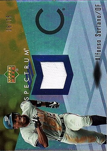 Photo of 2007 Upper Deck Spectrum Swatches Gold #AS Alfonso Soriano Jersey /75