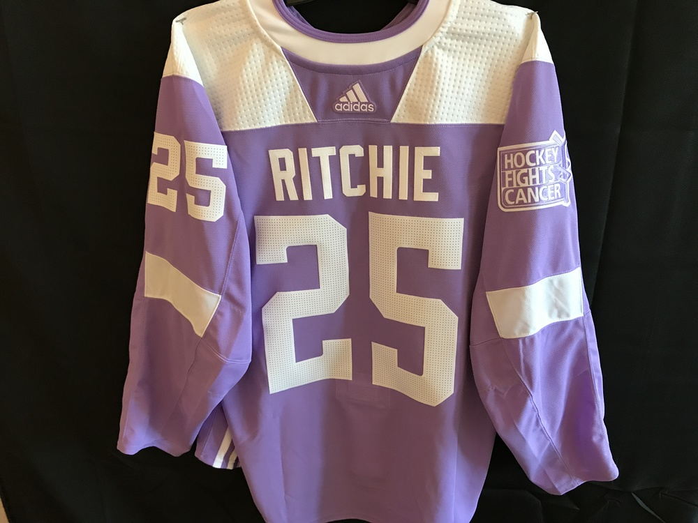 Brett Ritchie Player-Issued Hockey Fights Cancer Jersey